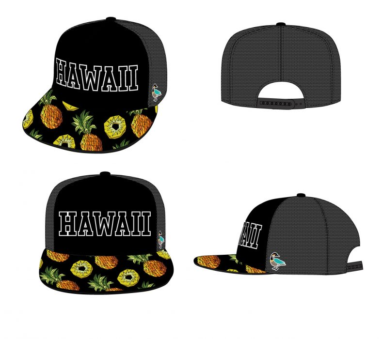 pp_5-panel_baseball_cap_jagged_pineapple_pattern